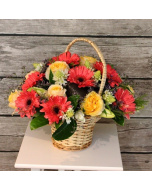 Roses and Gerberas Basket