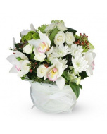 White Flower Posy