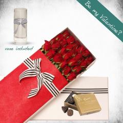 24 Long Stems Roses Gift Box