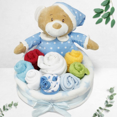 Blue Bear Bouquet