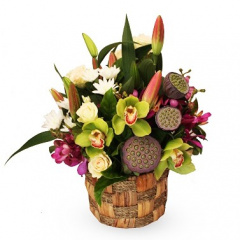 Exotic Flower Basket
