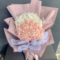 Mixed Pink Pastel Preserved Hydrangea Bouquet