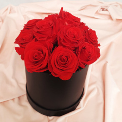 Forever Red Roses - Hat Box