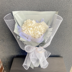 Preserved Hydrangea Bouquet - White